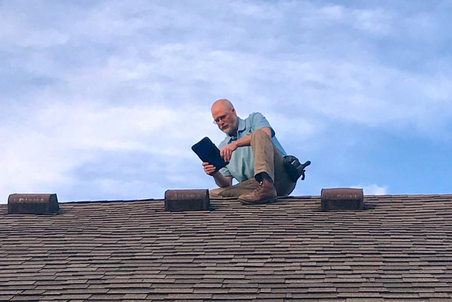 Jerry Fowler Inspection a roof